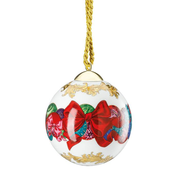 "Bauble by Versace Home, $150 at [Amara](https://www.amara.com/au/products/reflections-of-holidays-ball-tree-decoration|target=""_blank""