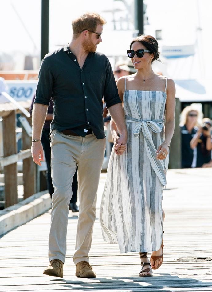 Meghan Markle and Prince Harry at Fraser Island.