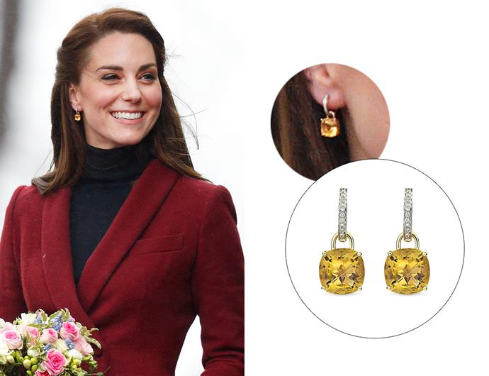 "Wearing the '[Classic Citrine And Diamond Cushion Drop Earrings](https://kiki.co.uk/product/kiki-classic-citrine-and-diamond-cushion-drop-earrings/|target=""_blank""