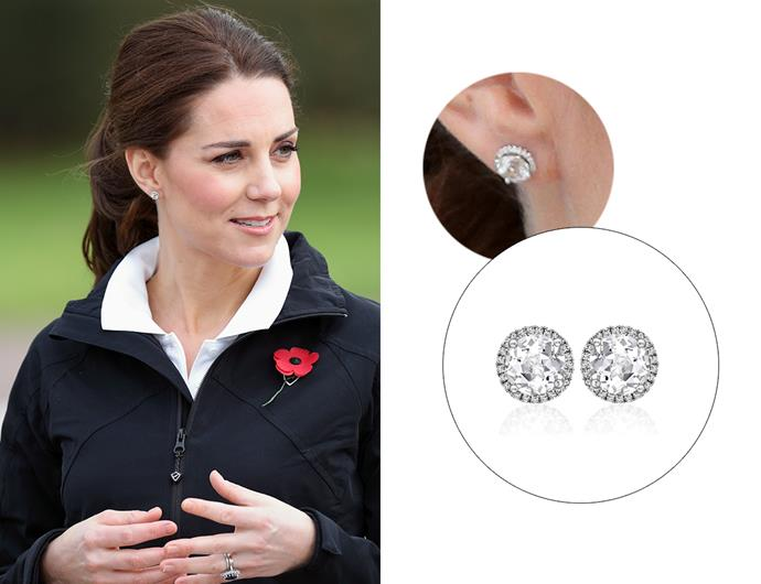 "Wearing the '[Grace White Topaz Stud Earrings](https://kiki.co.uk/product/grace-white-topaz-stud-earrings/|target=""_blank""