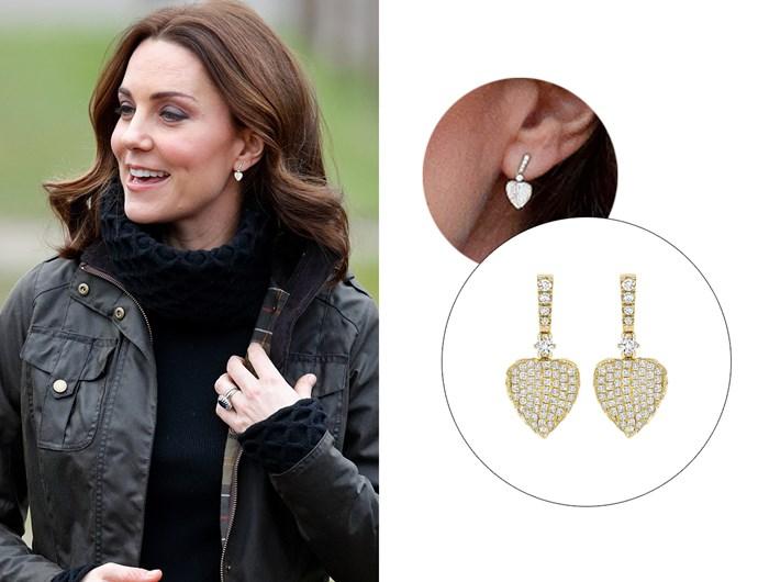 "Wearing the '[Lauren Yellow Gold Pave Diamond Leaf Earrings](https://kiki.co.uk/product/lauren-yellow-gold-pave-diamond-leaf-earrings-2/|target=""_blank""|rel=""nofollow"").'"
