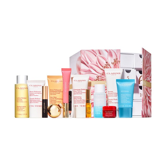 """Clarins Advent Calendar, $120 at [MYER](https://www.myer.com.au/p/clarins-640554850-1