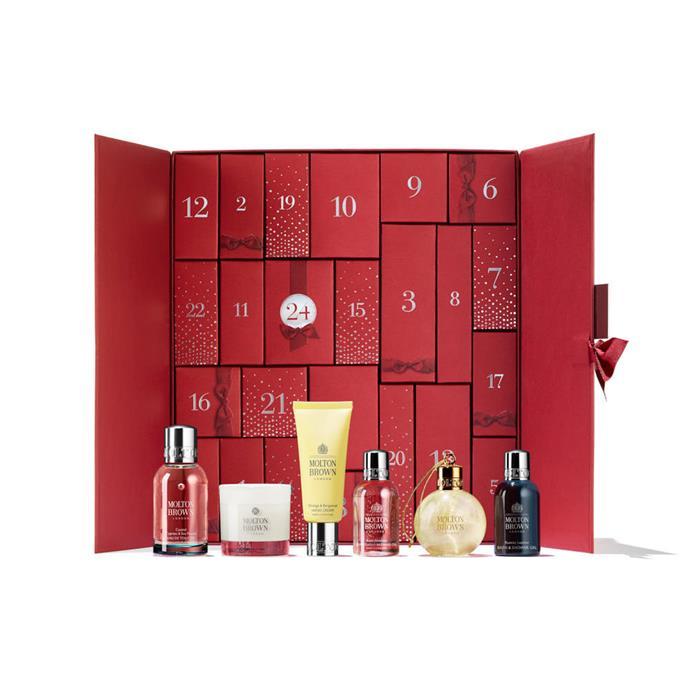 "Molton Brown Opulent Infusions Advent Calendar, $399 at [Molton Brown](https://www.moltonbrown.com.au/store/gifts/gift-sets/opulent-infusions-advent-calendar/MBC819/|target=""_blank""|rel=""nofollow"")"