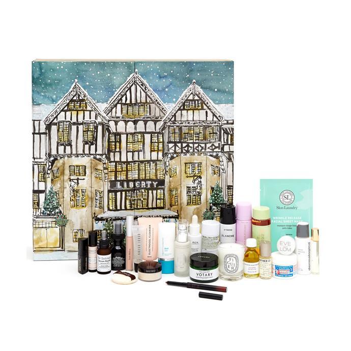 "Liberty London Beauty Advent Calendar 2018, $353 at [Liberty London](https://www.libertylondon.com/uk/beauty-advent-calendar-2018-000601169.html|target=""_blank""|rel=""nofollow"")"