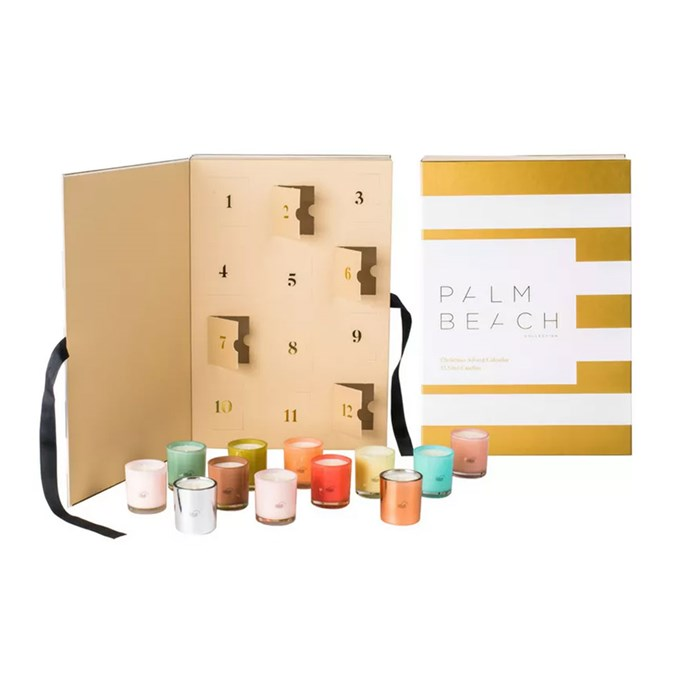 """Palm Beach Collection Christmas Advent Calendar, $80 At [Palm Beach](https://palmbeachcollection.com.au/product/christmas-advent-calendar-gift-pack/