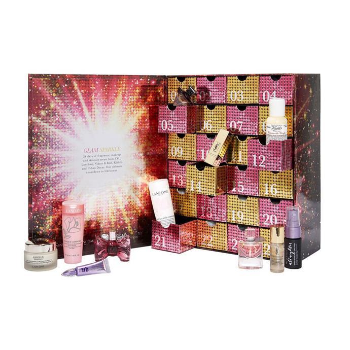 "Selfridges X L'Oreal Luxe Beauty Advent Calendar, $215 at [Selfridges](http://www.selfridges.com/AU/en/cat/selfridges-glam-sparkle-beauty-advent-calendar_340-84010339-TGB13338/|target=""_blank""|rel=""nofollow"")"
