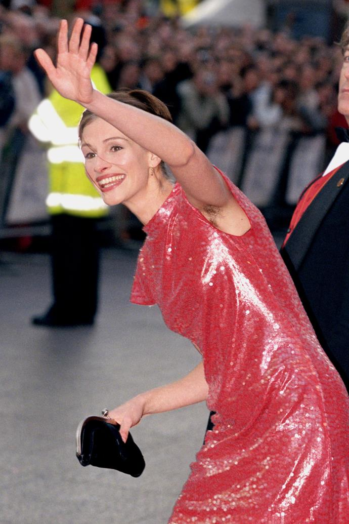 Julia Roberts at the premiere of *Notting Hill* in 1999.