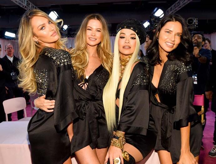 Candice Swanepoel, Behati Prinsloo, Rita Ora and Adriana Lima.