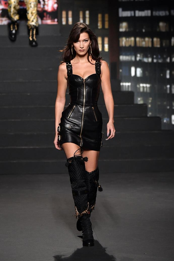 Bella Hadid for MOSCHINO [tv] H&M; Image: Getty