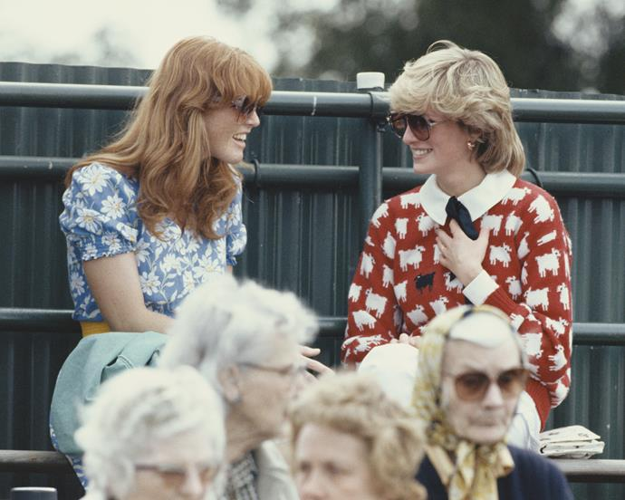 Sarah Ferguson and Diana, Princess of Wales in 1983.