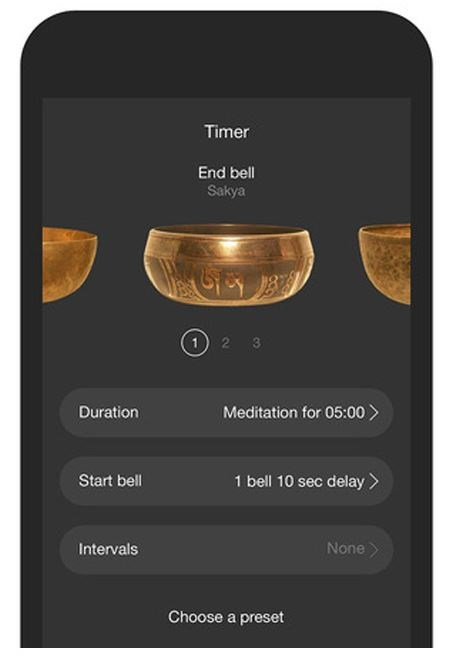 """***Insight Timer*** <br> For something more reminiscent of the Himalayan mountains, 'Insight Timer' provides guided meditation to eight different bell sounds. You can even personalise it, dragging and dropping different bells to match your yoga or tai chi sets. <br><br>  *Free to download from the [App Store](https://itunes.apple.com/au/app/insight-timer-meditation-app/id337472899?mt=8