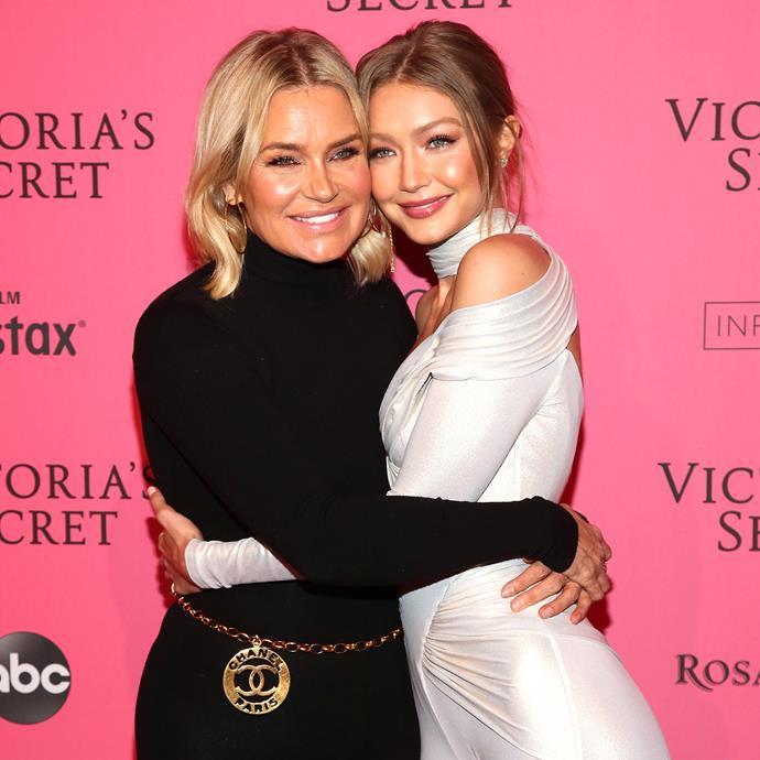 Gigi Hadid and Yolanda Hadid.