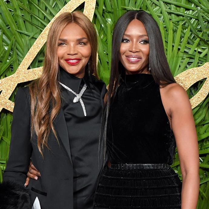 Naomi Campbell and Valerie Morris.