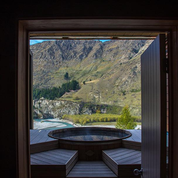 "<strong><a href=""http://www.onsen.co.nz/gallery"">The Onsen Hot Pools</a></strong> <br> <br> Queenstown, New Zealand <br> <br> Undoubtedly one of t<em>he</em> most Instagram-worthy retreats in the world, the Onsen Hot Pools are a must visit. You can relax in the pure water pools looking over the Shotover Canyon, both day and night. Treat yourself to the hour long massage while you're there."