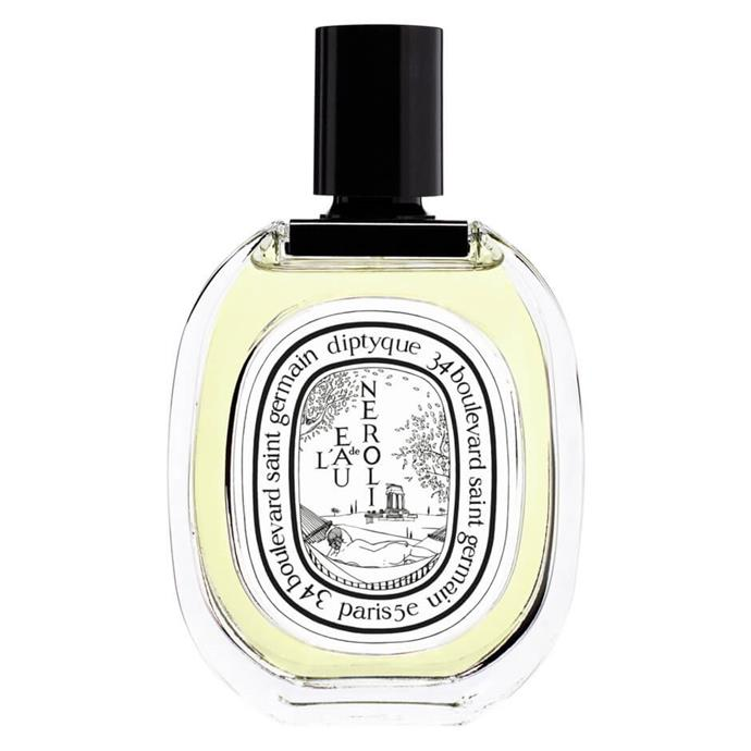 "**[Diptyque L'Eau de Neroli](https://www.mecca.com.au/diptyque/leau-de-neroli-edt/I-032186.html?gclid=CjwKCAiArK_fBRABEiwA0gOOcxDxYLULPPDsEbgZryf2jPkLMKuPMe6CfPpRqVeoLj7a_-zaxkQ2QhoCh-gQAvD_BwE|target=""_blank""