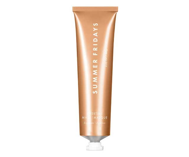 "**Mask by Summer Fridays, approx. $68 at [Cult Beauty](https://www.cultbeauty.co.uk/summer-fridays-overtime-mask.html|target=""_blank""
