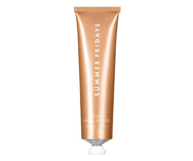 """**Mask by Summer Fridays, approx. $68 at [Cult Beauty](https://www.cultbeauty.co.uk/summer-fridays-overtime-mask.html target=""""_blank"""" rel=""""nofollow"""")**  A-listers adored Summer Fridays' debut moisturising mask when it launched in early 2018—both Kim Kardashian and Jessica Alba added the [Jet Lag mask](https://www.harpersbazaar.com.au/beauty/summer-fridays-jet-lag-mask-dupes-16097 target=""""_blank"""") to their skin routines—and its follow-up, the pumpkin-infused, exfoliating Overtime Masque is getting the same level of love on social media from influencers, makeup artists and celebs."""