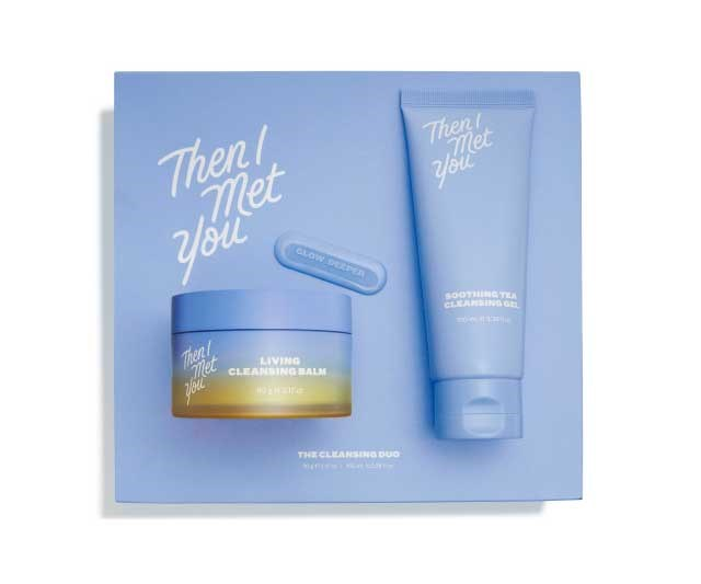 "**Cleansing set, approx. $93 by [Then I Met You](https://thenimetyou.com/products/the-cleansing-duo|target=""_blank""