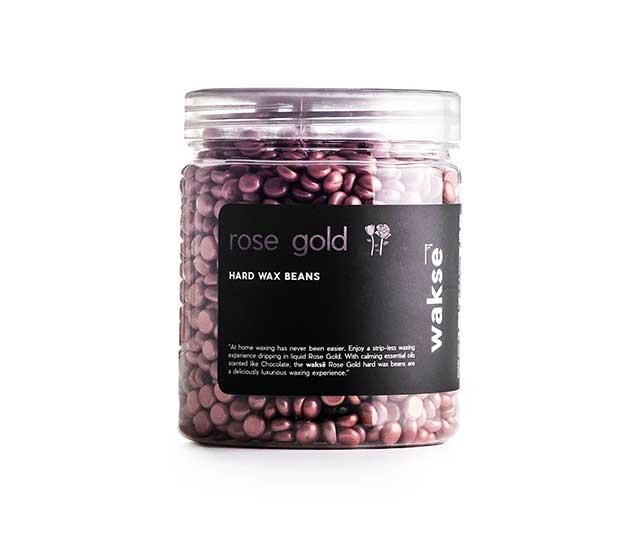 "**Wax beans, approx. $36 by [Waksé](https://www.wakse.com/shop/rose-gold-hard-wax-beans|target=""_blank""