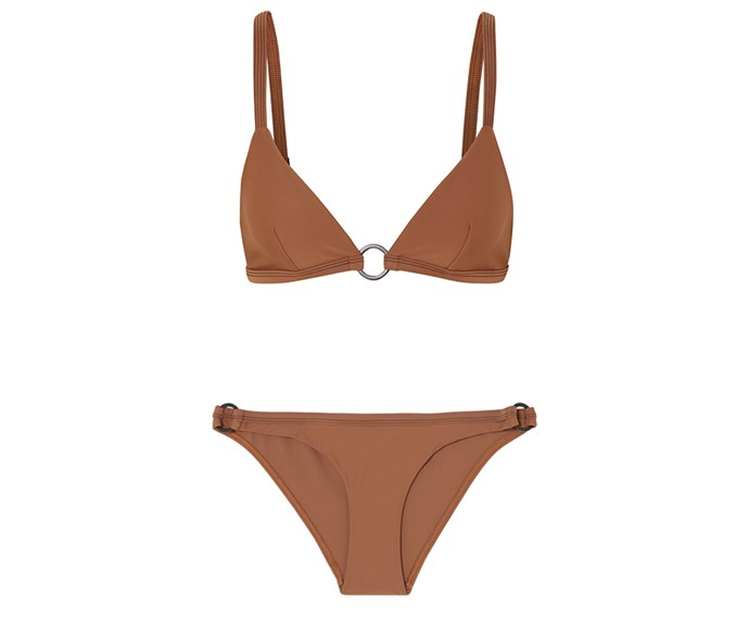 """**Matteau top, $135 at [Net-a-Porter](https://www.net-a-porter.com/au/en/product/1089652/Matteau/the-ring-triangle-bikini-top