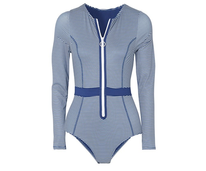 """**Duskii swimsuit, $300 at [Net-a-Porter](https://www.net-a-porter.com/au/en/product/1088519/Duskii/gigi-striped-swimsuit