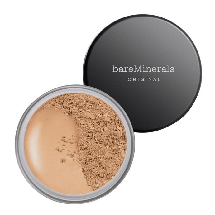 "**Best Mineral Makeup** <br><br> BareMinerals Original SPF Foundation, $42, at [BareMinerals](https://www.bareminerals.com/makeup/face/foundation/original-foundation-broad-spectrum-spf-15/USMasterSPF15Found.html|target=""_blank""|rel=""nofollow"")."