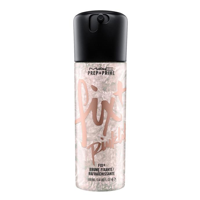 "**Best Setting Spray** <br><br> MAC Prep + Prime Fix + (Shimmer) in Pinklite, $36, at [MAC](https://www.maccosmetics.com.au/product/13825/57613/products/skincare/primers/prep-prime-fix-shimmer|target=""_blank""