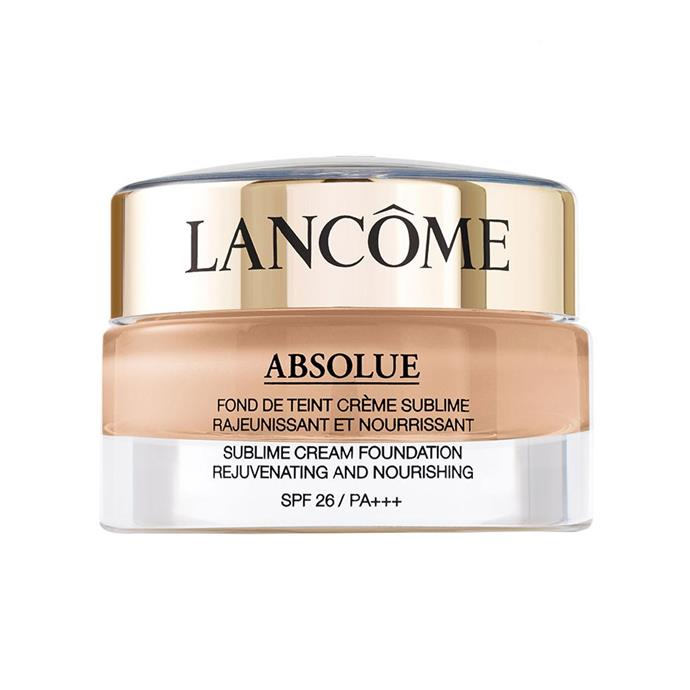 "**Best Foundation For Mature Skin** <br><br> Lancôme Absolue Sublime Cream Foundation, $158, at [Lancôme](https://www.lancome.com.au/makeup/absolue-sublime-cream-foundation/AU1804-LAC.html|target=""_blank""