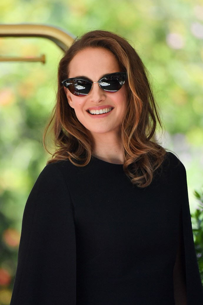 **Diamond Face:** Accent the widest point of your face, your cheekbones, with a round or cat-eye frame like Natalie Portman, but avoid heavily embellished or over-sized styles as they can make your head look disproportionate.