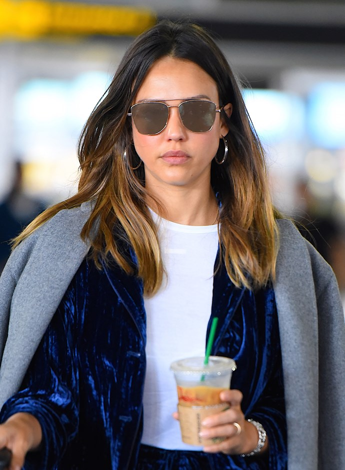 **Oval Face:** Congratulations, you can pull anything off. For oval faces like Jessica Alba, the key is finding balance. Know the size of your face and where to draw the line between huge lenses or barely-there tiny frames.