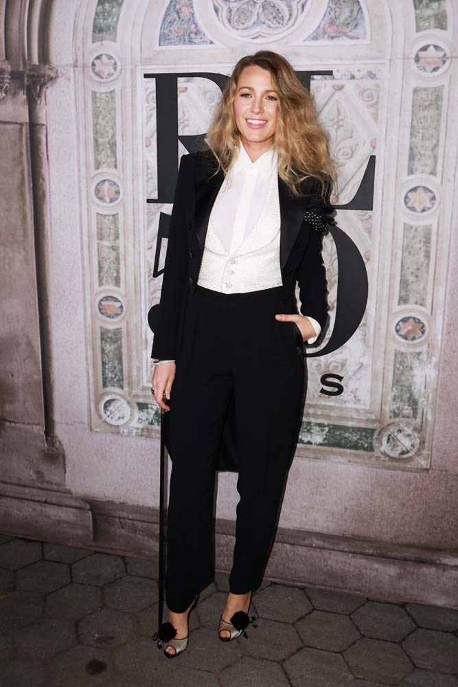**8. Blake Lively**<br><br> Off the back of her fashion-foward, suit-heavy promo tour for *A Simple Favour,* women have been looking to Blake Lively for suiting inspiration.
