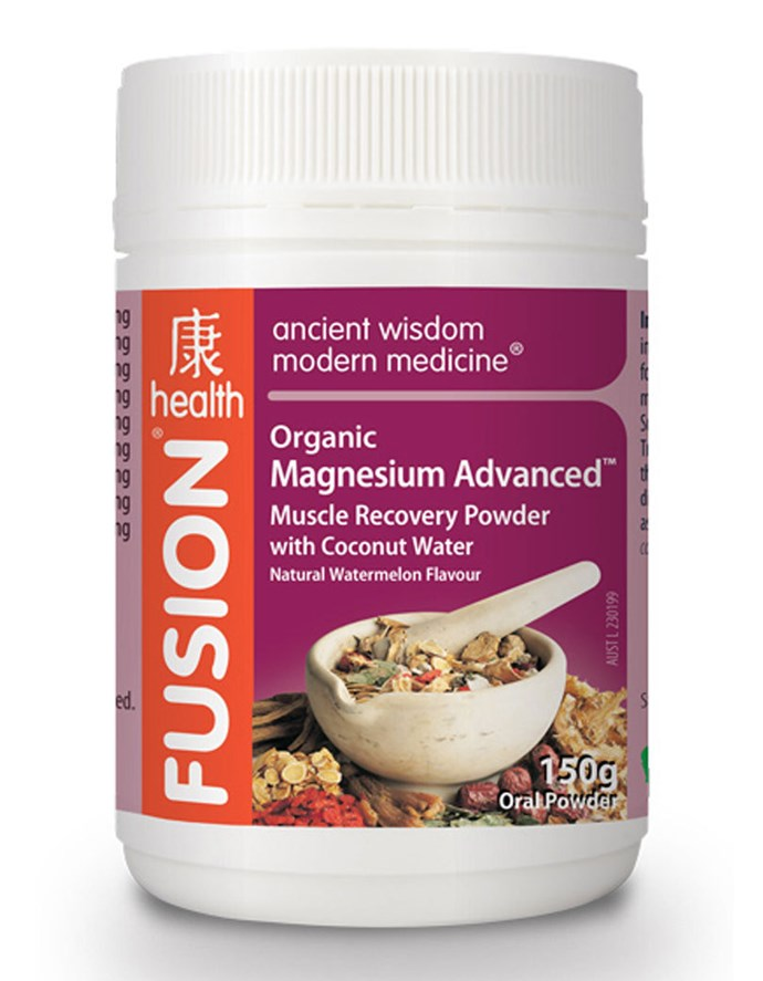 """**Best Muscle Recovery** <br><br> Fusion Health Organic Advanced Muscle Recovery Powder, $36, at [Fusion Health](https://www.fusionhealth.com.au/products/magnesium-advanced-powder-watermelon