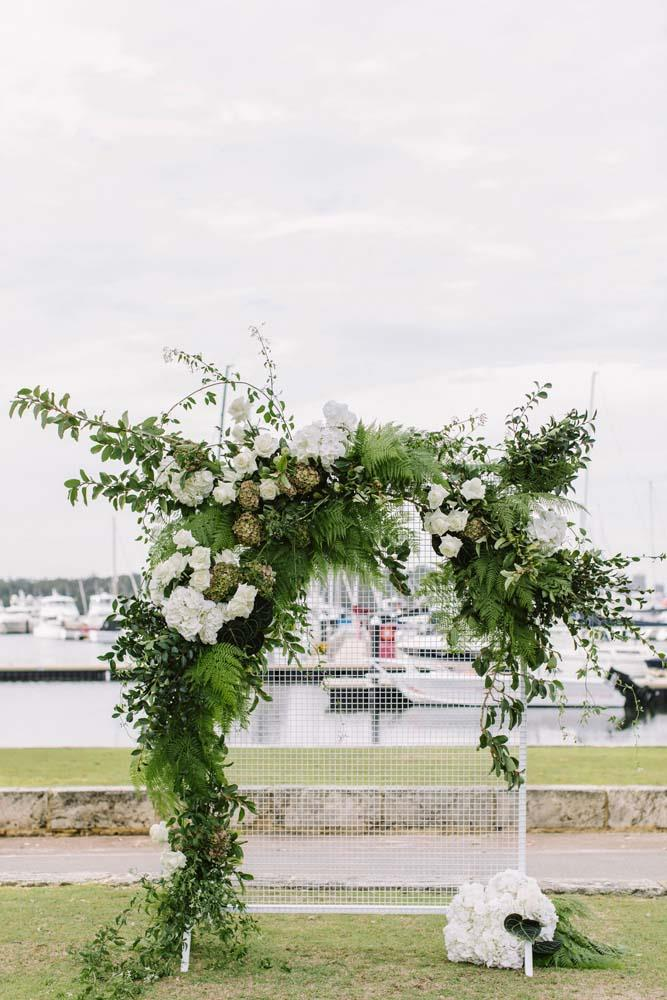 **On the location:** Our ceremony and reception were both held at Royal Perth Yacht Club. We really liked the idea of having the ceremony and reception at the one venue so our guests didn't have to travel from one venue to another. We had all of our photos taken before the ceremony so the reception started almost straight after the ceremony.