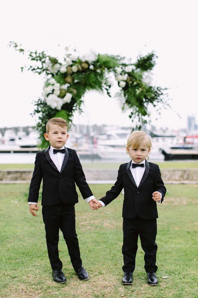 **On the most memorable moment of the day:** One of the best moments of the day was watching my four-year-old nephew absolutely tear it up on the dance floor in his little tux! He's got some moves!
