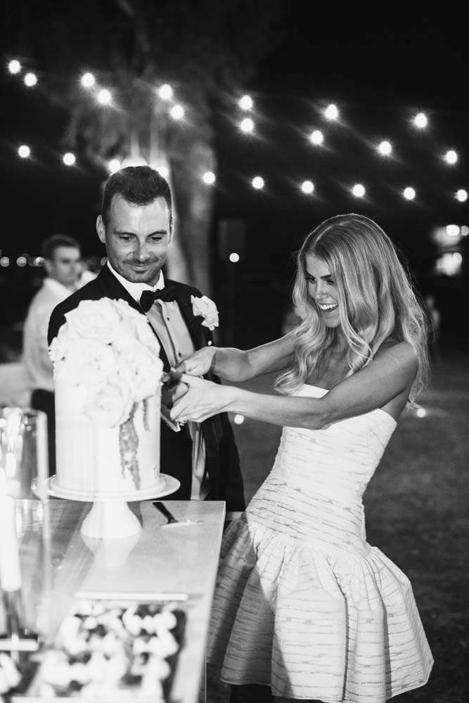**Was there an outfit change for the reception?** I did and it was one of the best decisions I made! I changed into an Alex Perry mini dress which allowed me to dance the night away without worrying about my dress.