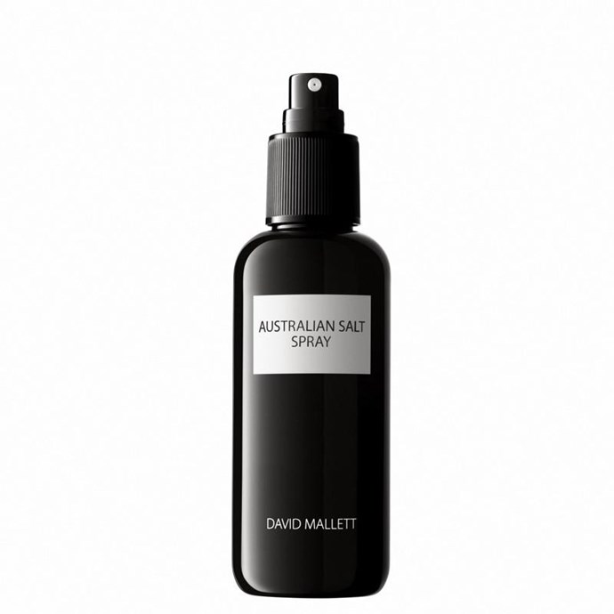 "**Best Beach Spray** <br><br> David Mallett Australian Salt Spray, $56, at [Adore Beauty](https://www.adorebeauty.com.au/david-mallett/david-mallett-australian-salt-spray.html|target=""_blank""
