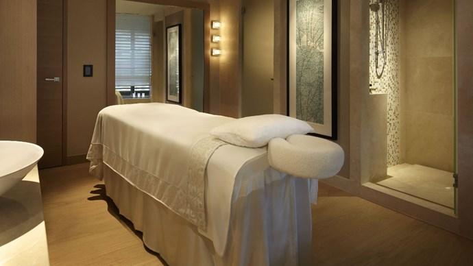 "***The Spa at Park Hyatt Sydney*** <br> Park Hyatt is arguably Sydney's most heavenly hotel—who could say no to that insane harbour view? Therefore, it's no surprise that The Spa at Park Hyatt delivers—no matter how opulent a day spa experience you're after. <br><br> *Massage treatments start at $100, book at [Park Hyatt](https://www.hyatt.com/en-US/spas/The-Spa-Sydney/home.html|target=""_blank""