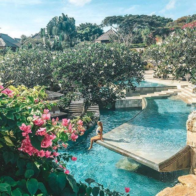 """***AYANA Resort And Spa, Jimbaran Bay*** <br> Set atop a pristine private beach in the exclusive Bali haunt of Jimbaran Bay, AYANA sets the bar high for five-star, cliffside bliss—as do its famous villas, all of which feature infinity pools and ocean views. <br><br> *Book at: [AYANA Resort And Spa Bali](https://www.ayana.com/bali/ayana-resort-and-spa