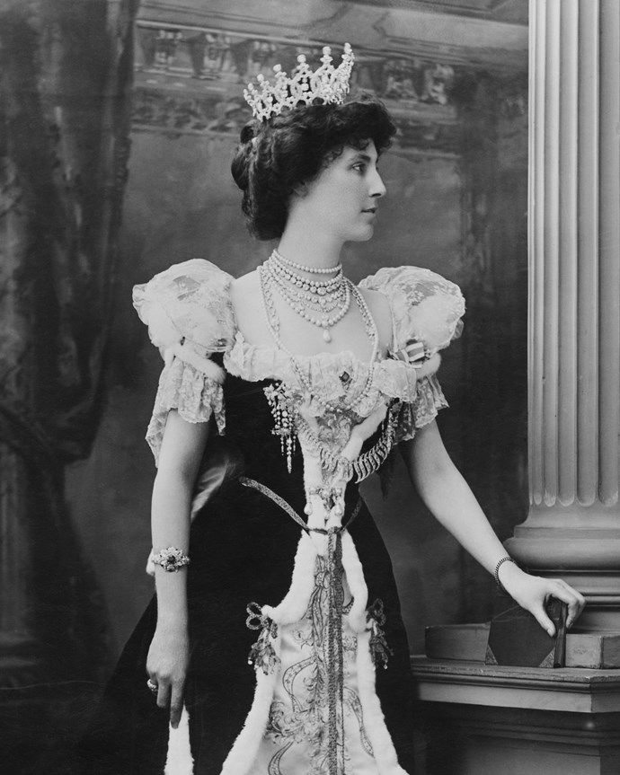 Winifred Anna Dallas-Yorke, the Duchess of Portland, at the Coronation of King Edward VII in 1902.