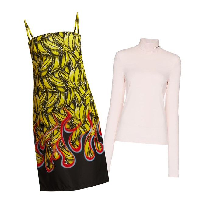 "***Caroline Tran, fashion editor***<br><br> ""I bought the Prada [banana-print slip dress](https://www.matchesfashion.com/products/Prada-Banana-and-flame-print-gabardine-dress-1223518