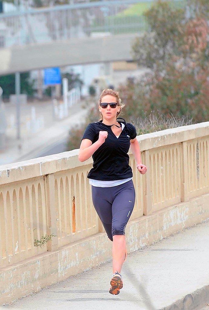 Lawrence going for a run in 2012.