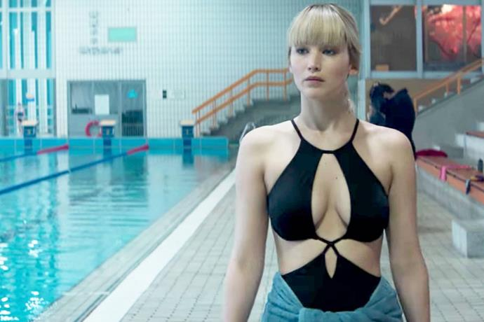 Lawrence in the 2018 movie *Red Sparrow*.
