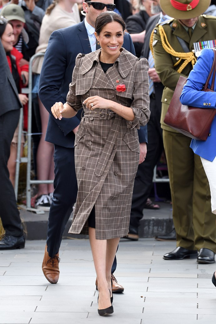 While Meghan often incorporates formal garments into her wardrobe rotation, this was her first time wearing ASOS during her reign as Duchess of Sussex.