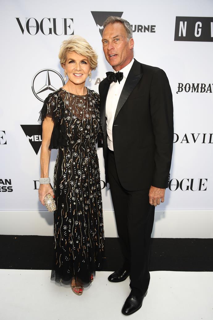 Julie Bishop and David Panton