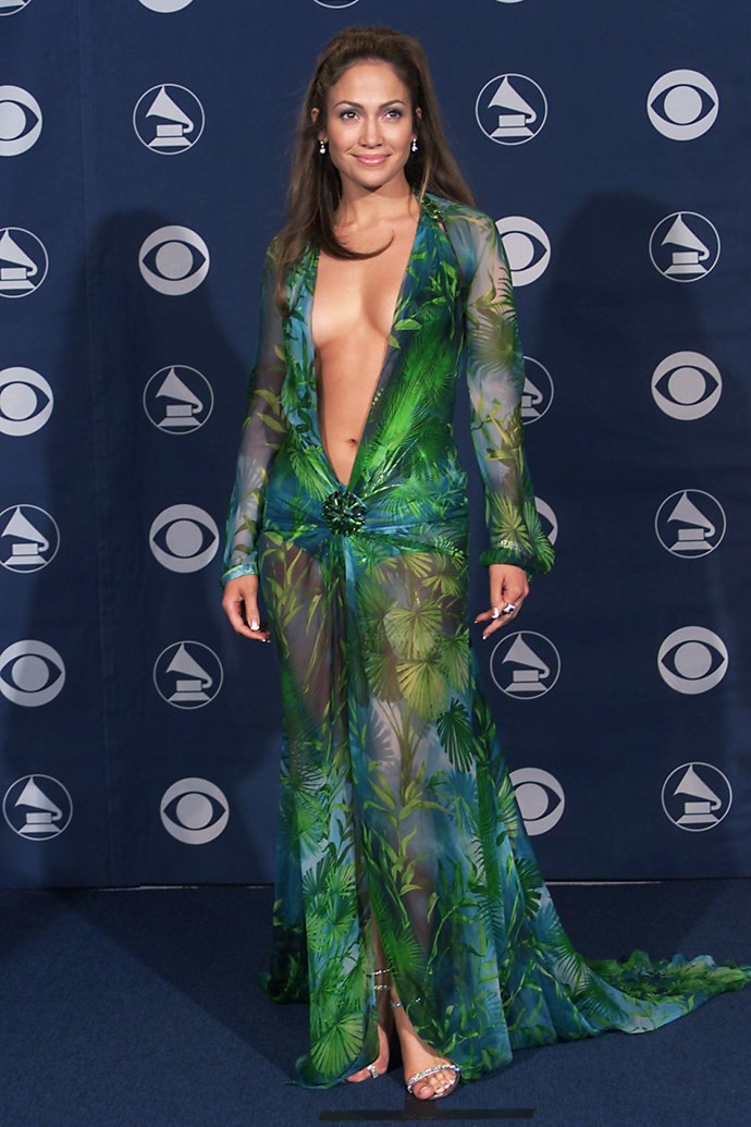 Jennifer Lopez at the 42nd Annual Grammy Awards in 2000.