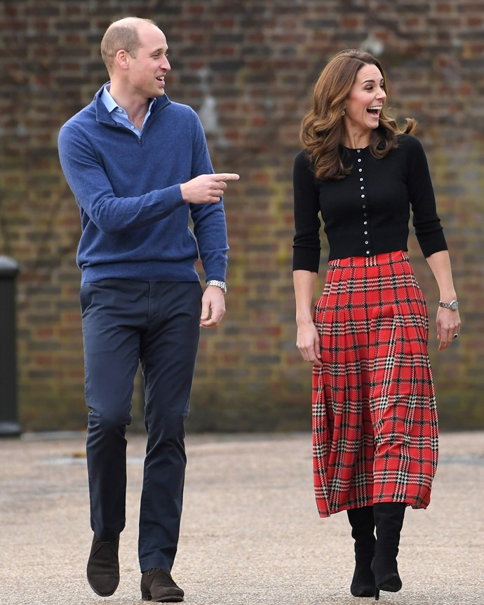 Prince William and Catherine, Duchess of Cambridge at their Christmas Party on December 4, 2018.