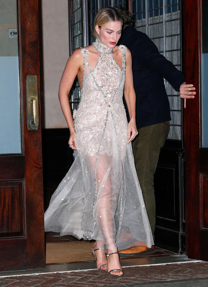Margot Robbie in New York City on November 4, 2018.