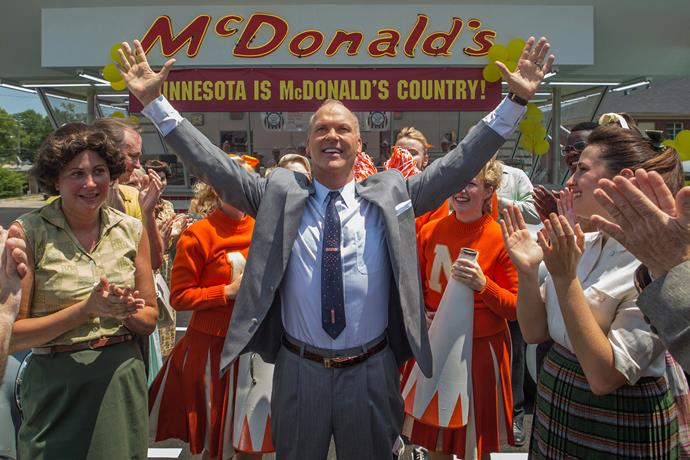 ***The Founder* (12/12/2018):** The story of Ray Kroc, a salesman who turned two brothers' innovative fast food eatery, McDonald's, into the biggest restaurant business in the world, with a combination of ambition, persistence, and ruthlessness.