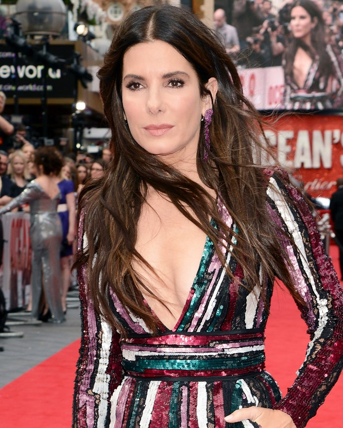 Bullock at the London premiere of *Ocean's 8* on June 13, 2018.