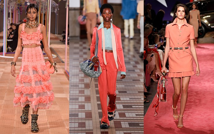 Alexander McQueen Spring/Summer 2019 (left); Acne Studios S/S 2018 (centre); Brandon Maxwell S/S 2019 (right).